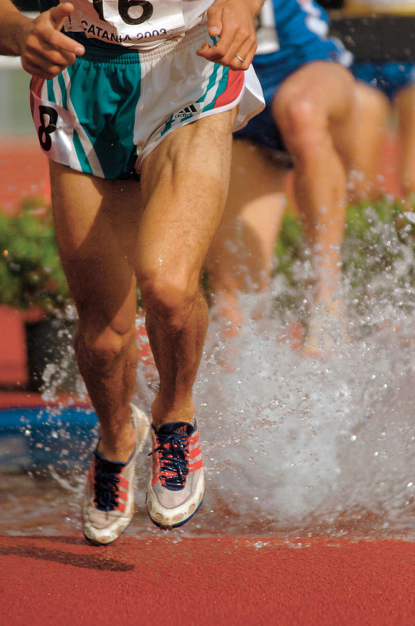 My leg hurts because of running. What can I do to ease the pain?