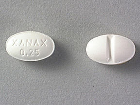 What's the mgs for 0.25 Xanax (alprazolam) and half of another Xanax (alprazolam)?