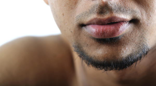Upper lip rash dry upper lip?