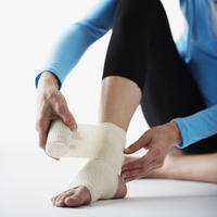 What is the definition or description of: ankle sprain?