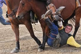 What are the most common injuries that occur in bareback bronc riding?