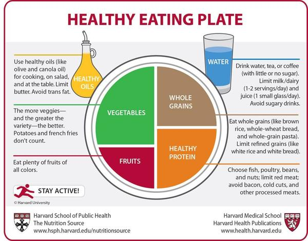 What is the difference between the healthy eating pyramid and the plate?