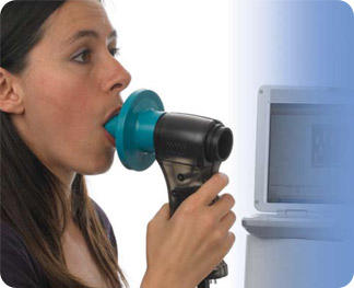 What is spirometry with bronchodilators and what info does it tell you?