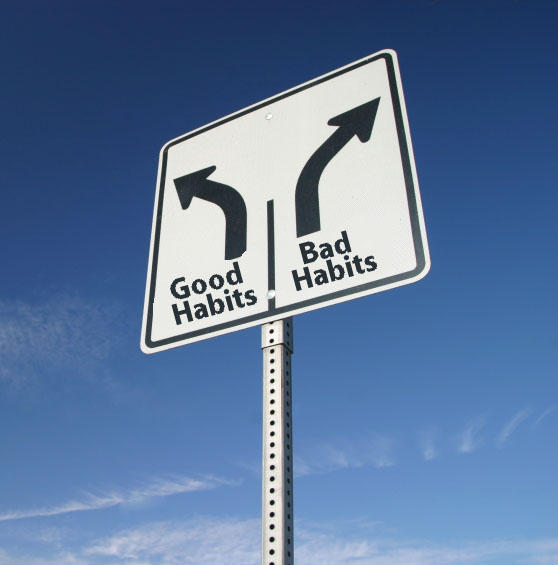 How do behaviors  become habitual?