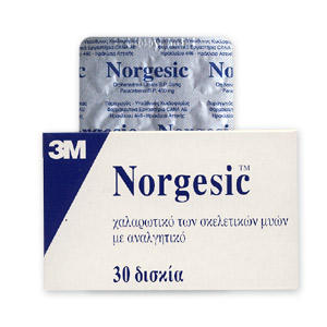 What are side effects of the muscle relaxant norgesic?