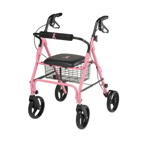 How can I keep my walker from rolling away?