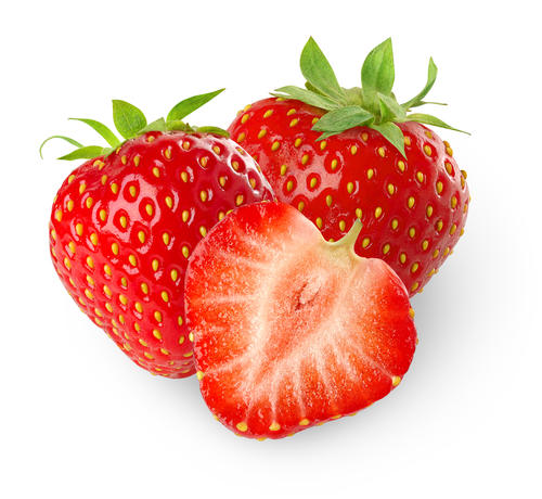What does a strawberry allergy look like in an allergic person?
