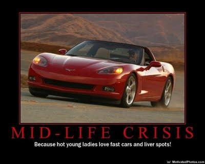 What are the emotional symptoms of a man's mid-life crisis?