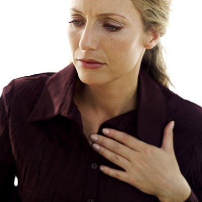 Why does my wife have chest pains while she sleeps?