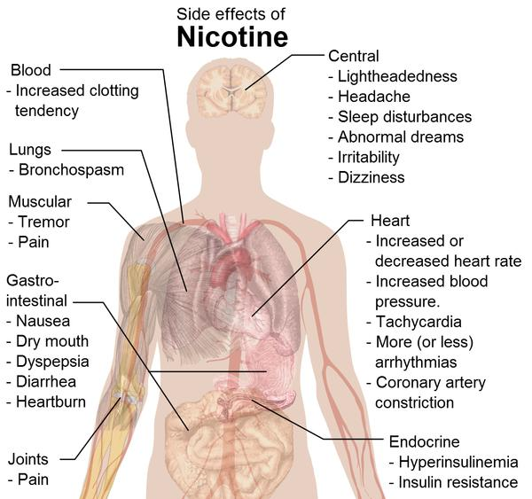 Can bad stomach pains occur from smoking withdrawl?