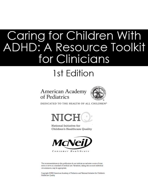 Are there any official online tests for ADHD from gov or pediatrics websites?