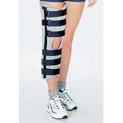 How do I treat knee hyperextension until I can get in to see the orthodoc?