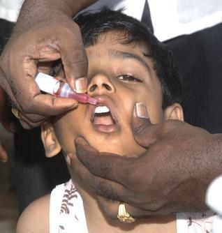 May a child get sick after taking oral polio vaccine?