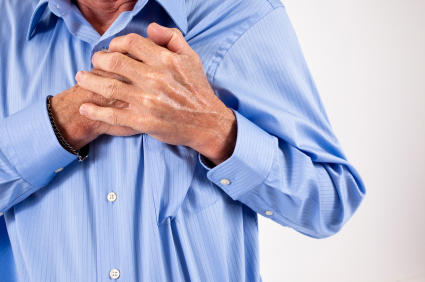 Chest pain when sitting a certain way but not in other positions. Probably not heart-related?