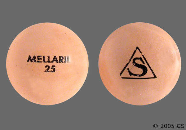 What is the drug mellaril used for?