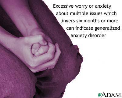 What are the criteria for  a generalized anxiety disorder?