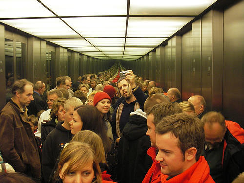 Would I be considered claustrophobic because if there are a lot of people in the elevator, I take the stairs?