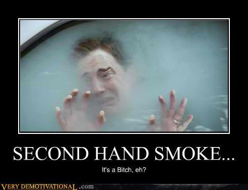 How bad is it if my husband smokes three cigarettes in the house a day, in terms of second hand smoke?