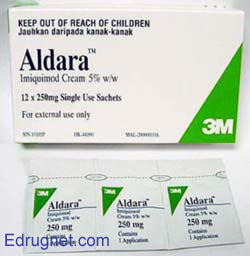 I am argentina. I need information. What is aldara (imiquimod) a cream for?