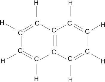 How come glucose is soluble in water and naphthalene is not?