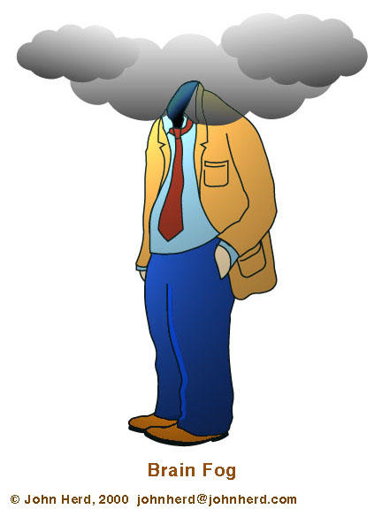 When someone says they have 'brain fog' what does that mean?