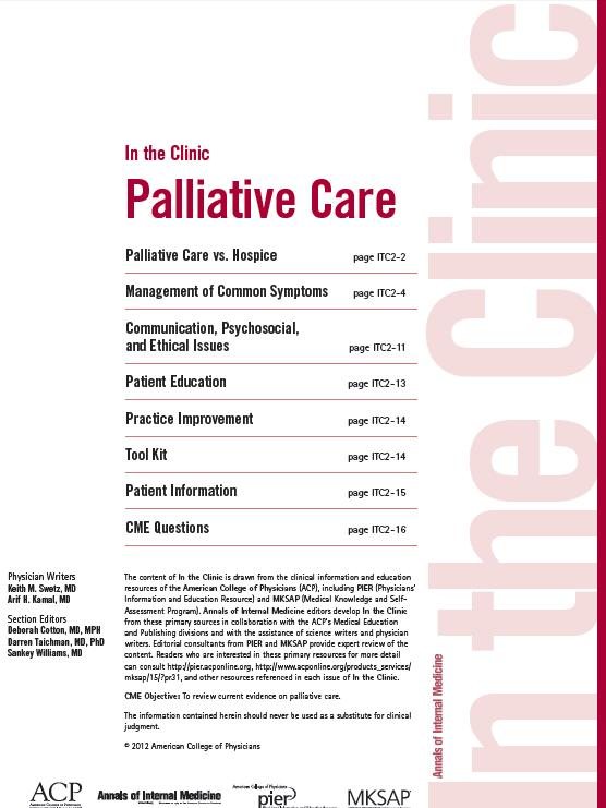 What exactly happens during palliative care?