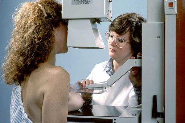 What happens during a mammogram?