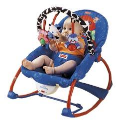 Is the rocker chairs of fisher price safe for the back of my newborn? She is 42 days old and they say on the rocking chair suitable for kids from day one, is that true?