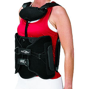 Is breathlessness and exhaustion in a back brace normal?
