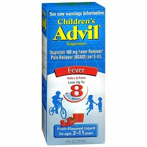 How much children's Advil can I give my 23 month old son? He is 28 pounds. Infant Advil and tylenol (acetaminophen) are not working