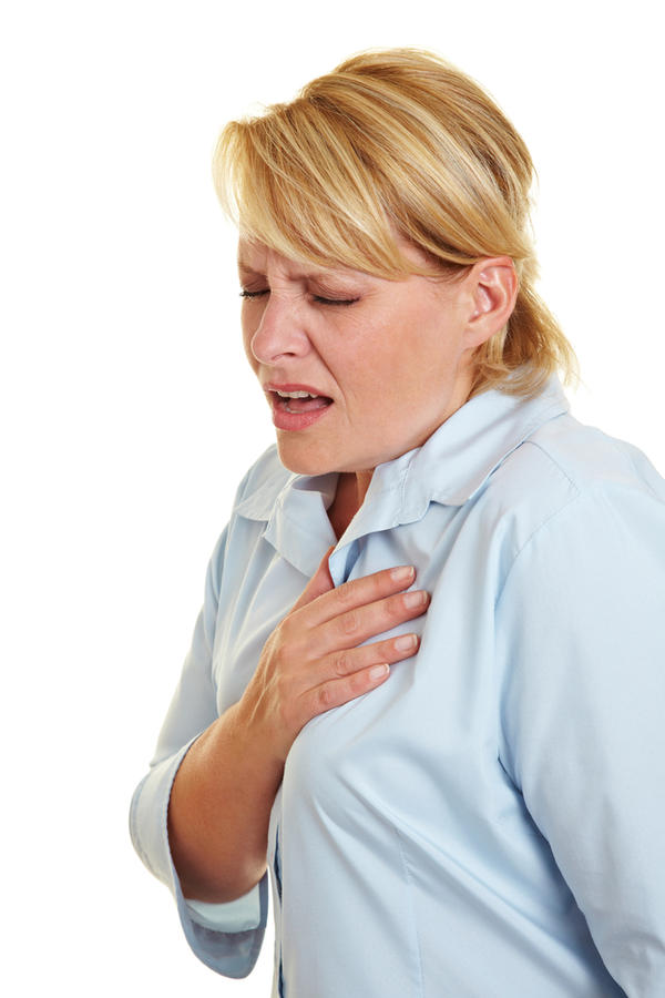 What causes chest pain when taking deep breaths and when swallowing food?