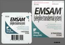 "The medication ""emsam"" will show up in drug tests for what?"