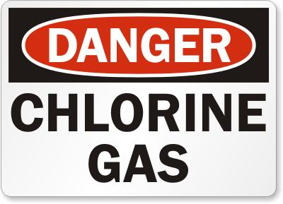 What are the symptoms of being allergic to chlorine?