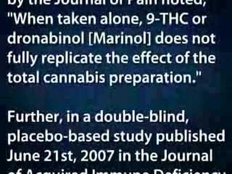 What is the difference between marijuana and marinol medicinally?