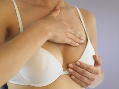 For the past 6 months or so, I have been experiencing extremely sore breasts. Due to a hysteroctomy 17 years ago, I don't have a menstrual cycle. What could be causing the pain in my breasts?