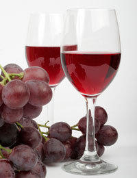 What makes drinking wine better (healthier) than just eating grapes?