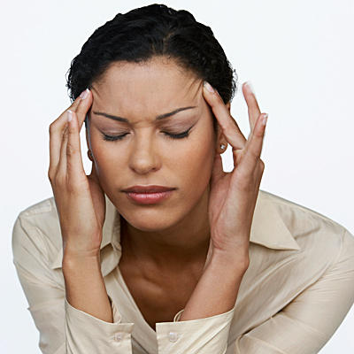 What kind of headaches comes from too much stress?