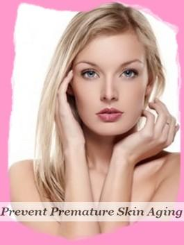What can reduce the apearance of premature skin aging?