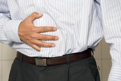 What can cause lower abdominal pain, light headedness, excessive sweating and diarrhea.?
