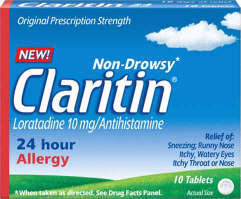 Can you take benefryl within an hour after taking claritin (loratadine)?