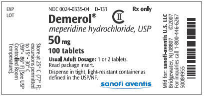 Is it safe to take demerol (meperidine hydrochloride) and percocet together?
