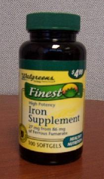 Is it possible that I feel better after only one day of taking an iron supplement?