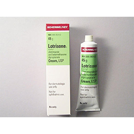Can you use lotrisone (clotrimazole and betamethasone) cream on your skin?