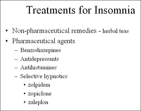 How can I treat insomnia?