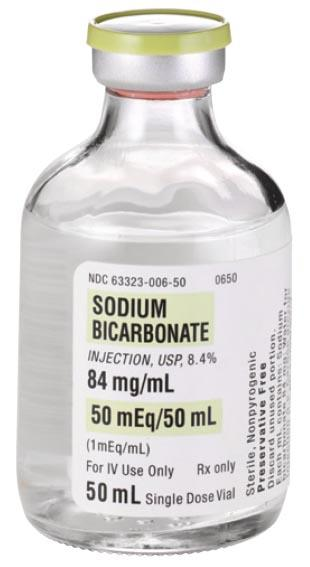 How does sodium bicarbonate help the kidneys?