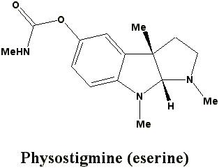 What are drugs similar to  physostigmine?