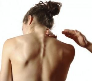 Can ovarion cyst cause pain in upper back ?