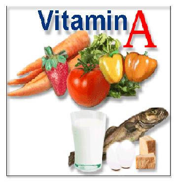 Need a list of foods with vitamin a?