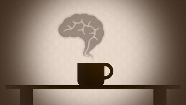 How does caffeine affect the brain cells?