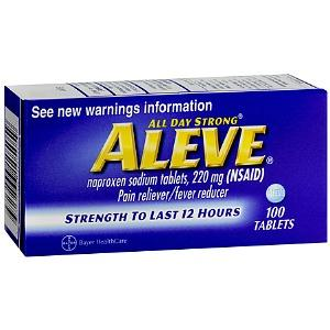 Can i take Aleve (naproxen) while on my UTI medication?